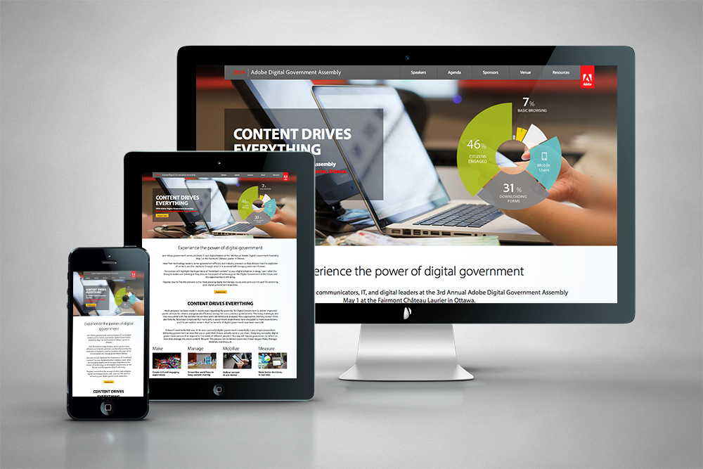 HintonX: Adobe Government Assembly Responsive Website Design